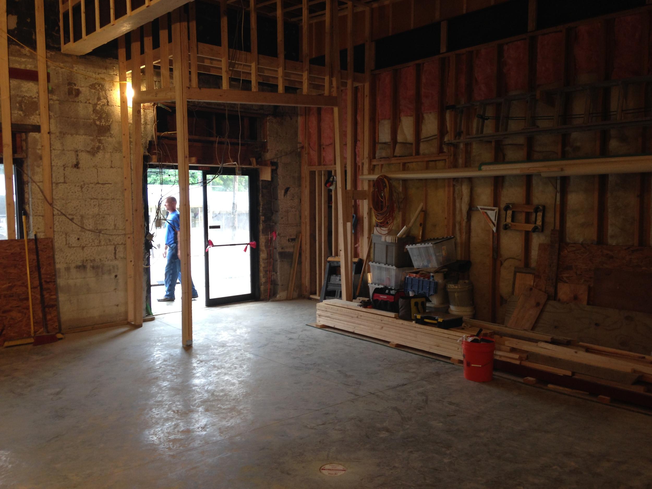 PROCESS: Interiors under construction