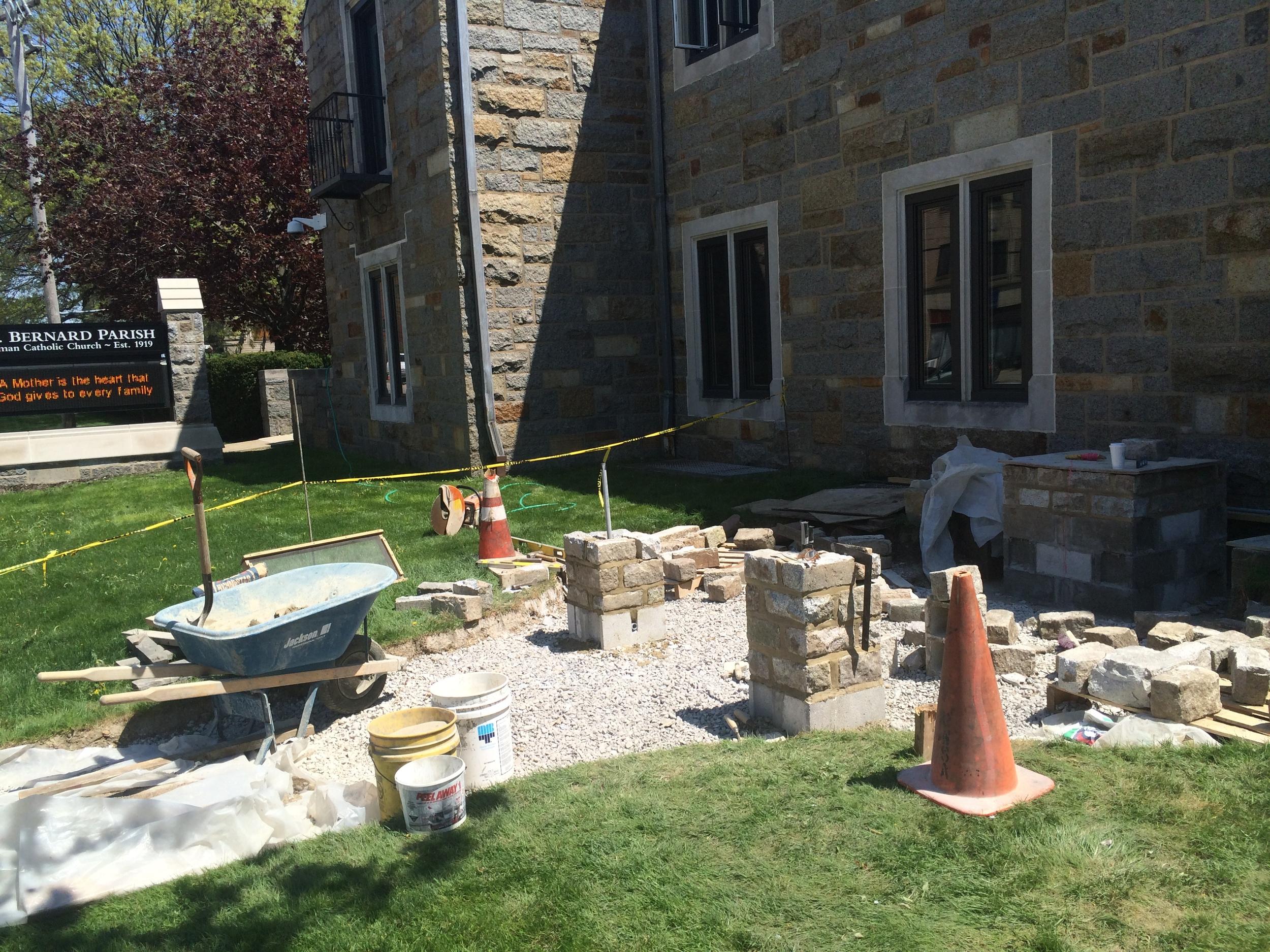 PROCESS: Masonry pier installation