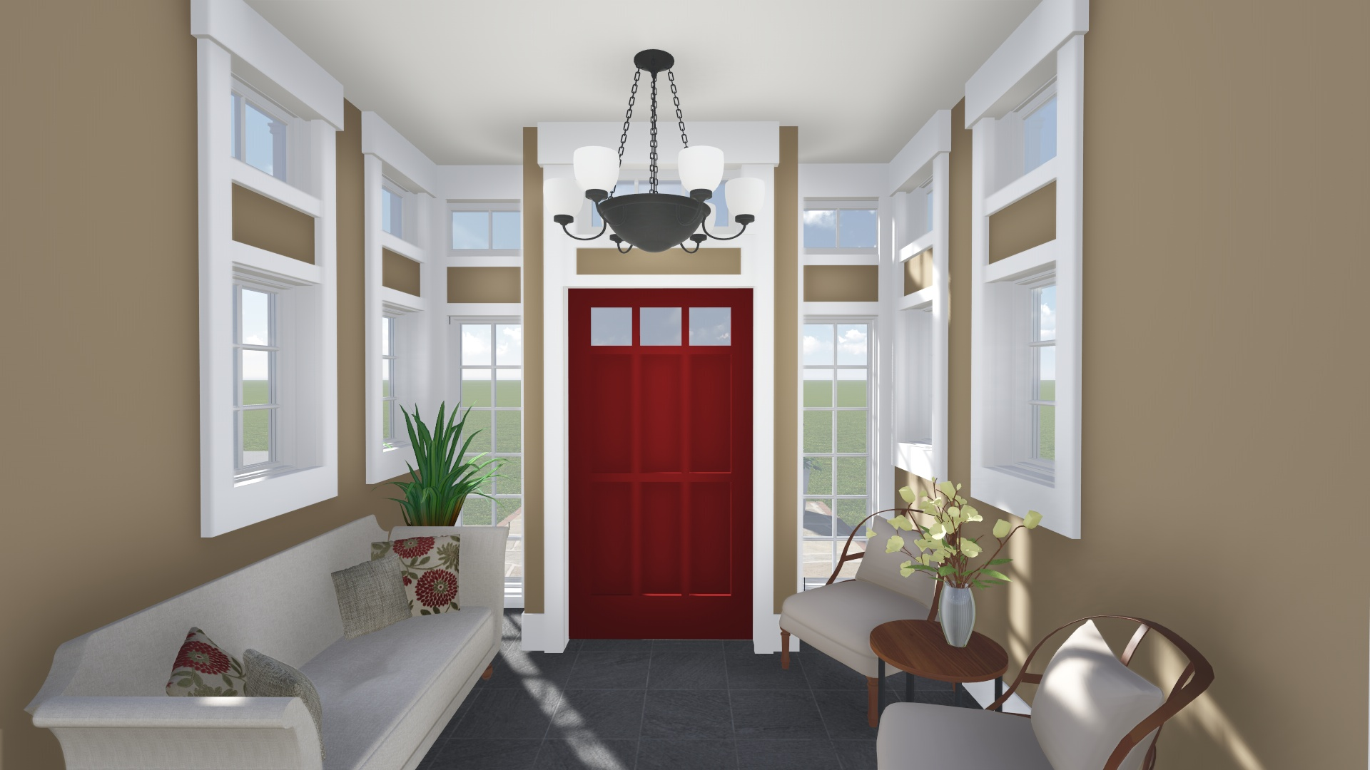 PROCESS: Interior view of entry addition