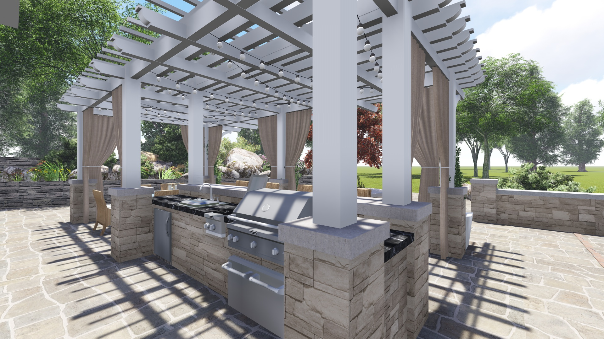 PROCESS: New outdoor kitchen