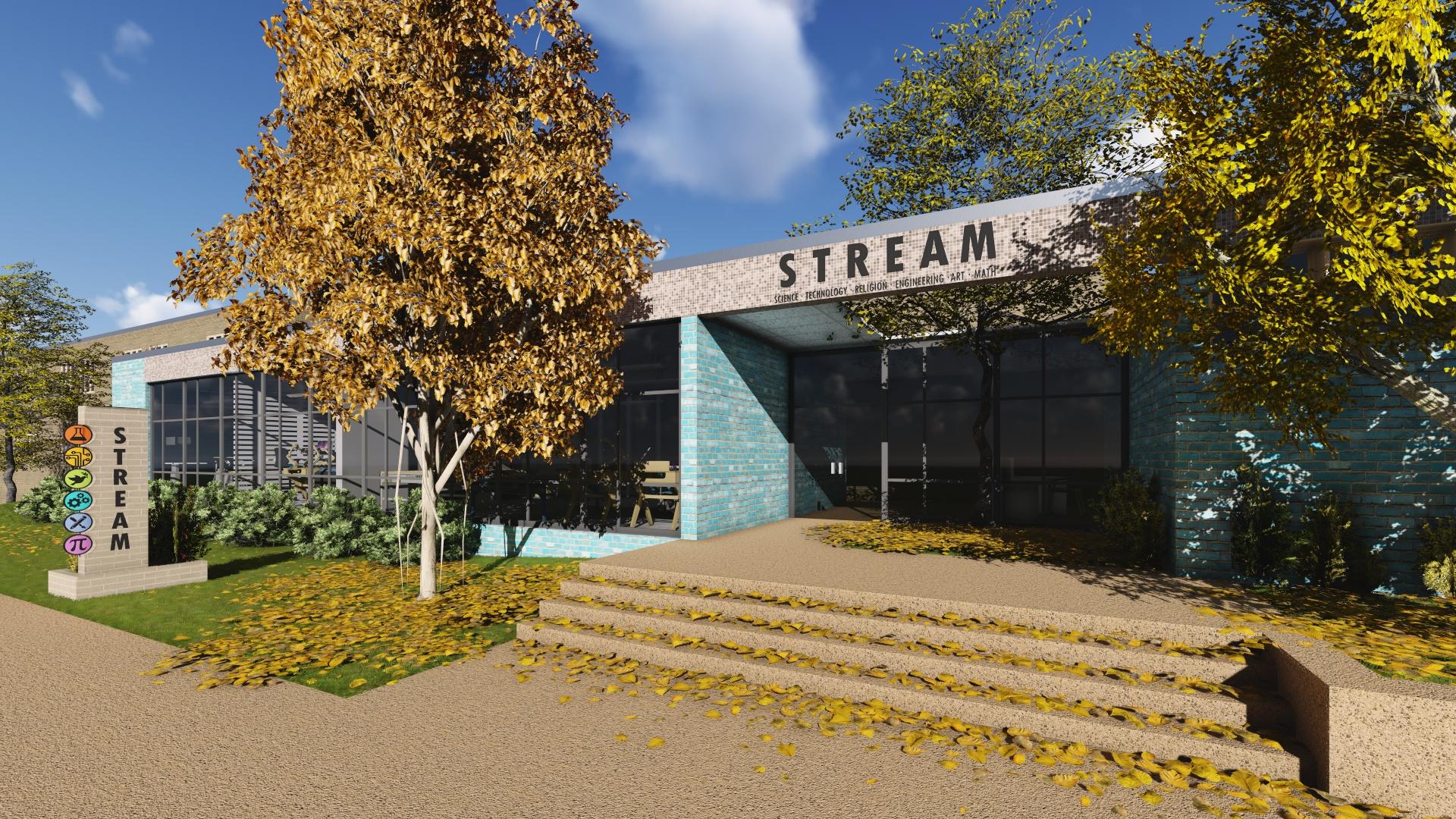 IN PROCESS: STREAM Center Exterior