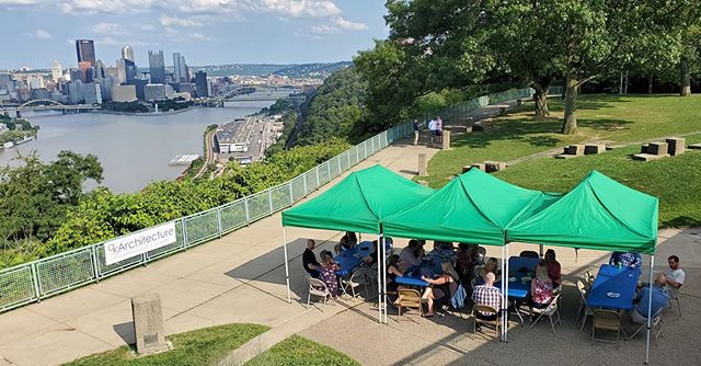 4th annual qkSummerfest at the most underrated view in the Burgh #margaritaburgh #architectsinthewild #piecesofpittsburgh