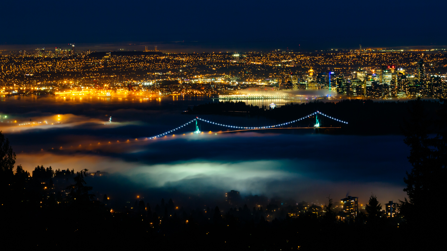 From the perspective of Cypress Mountain, Vancouver was surrounded in fog for an extended period of time during the Winter of 2013.