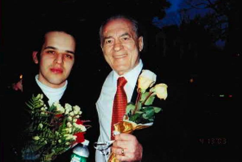 With UN Ambassador Jerome Shestack, after Julian's Chopin Festival debut, Kosciuszko Hall, New York—2009.