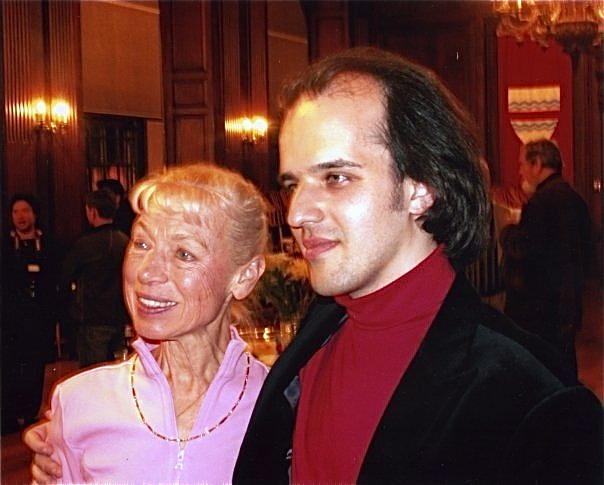 With Ludmila Belousova-Protopopov Evening with Champions, Cambridge—2008 Photo: Harvard University