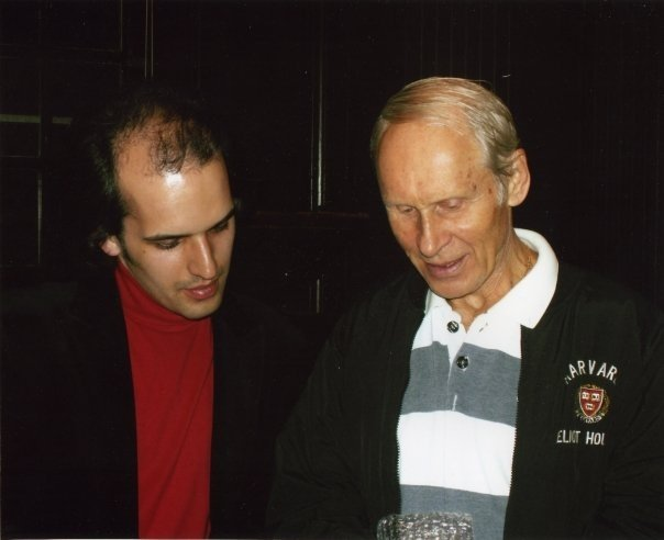 With Oleg Protopopov Evening with Champions, Cambridge—2008 Photo: Harvard University