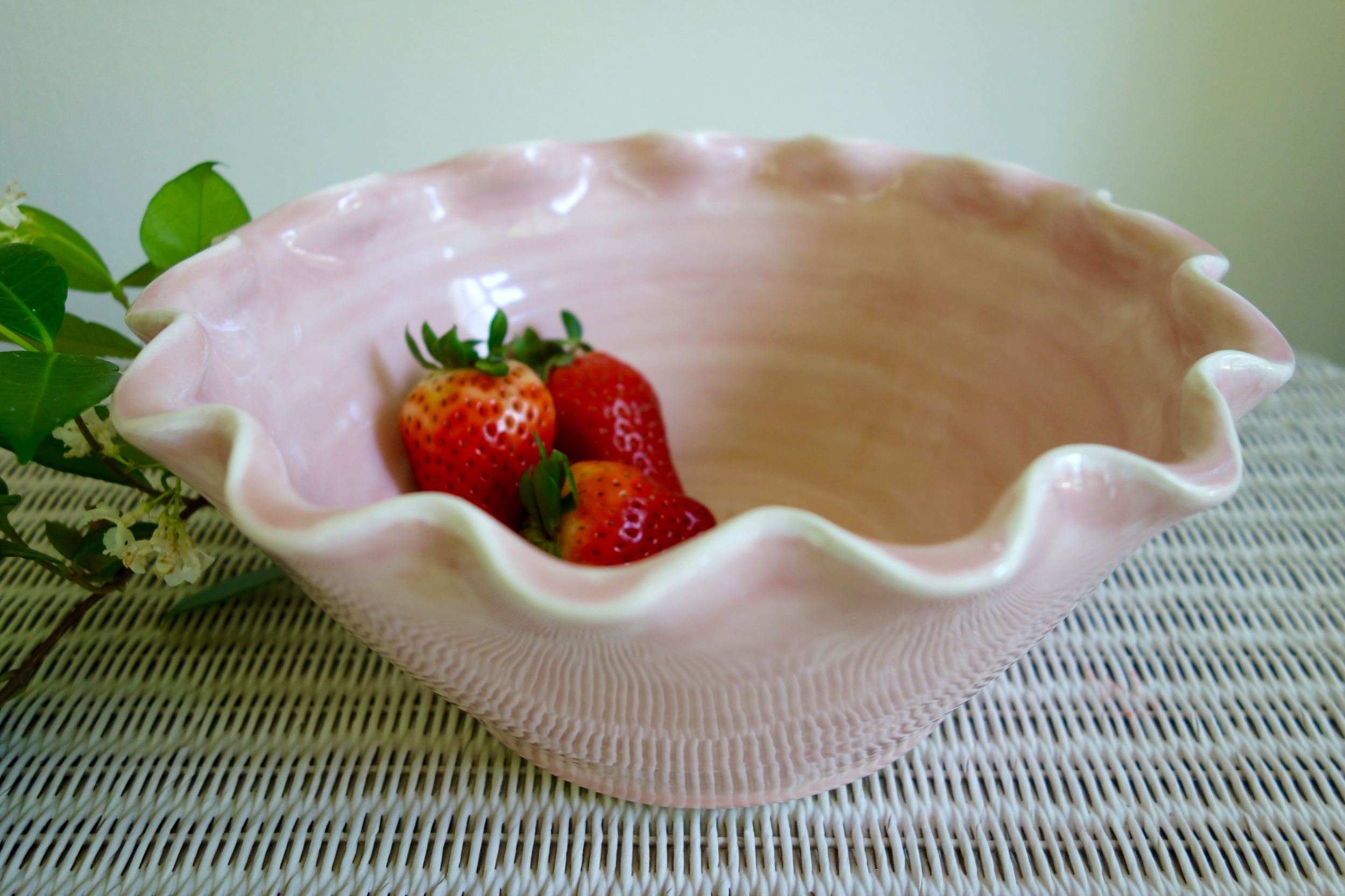 Rosy Pink Wavy Bowl