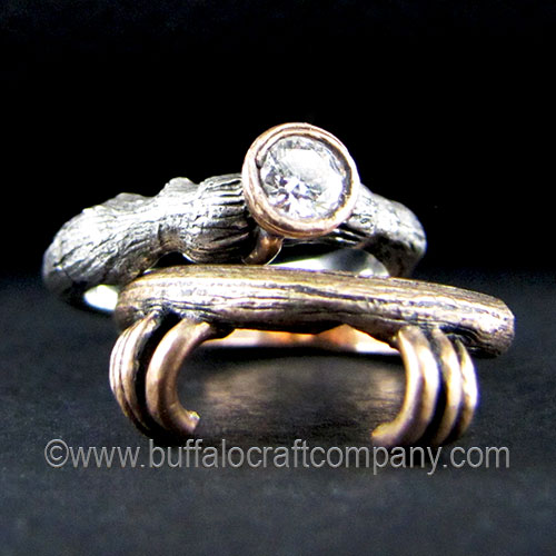 vineyard-nature-inspired-organic-twig-branch-oak-leaves-engagement-ring-wedding-band