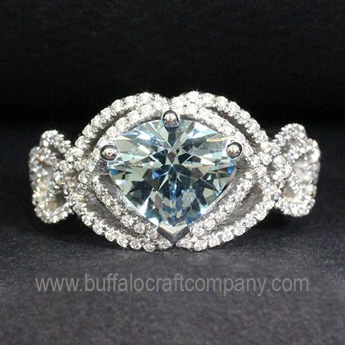 platinum-diamond-aquamarine-irish-knot-ring-vintage-antique-womans-fashion-jewelry