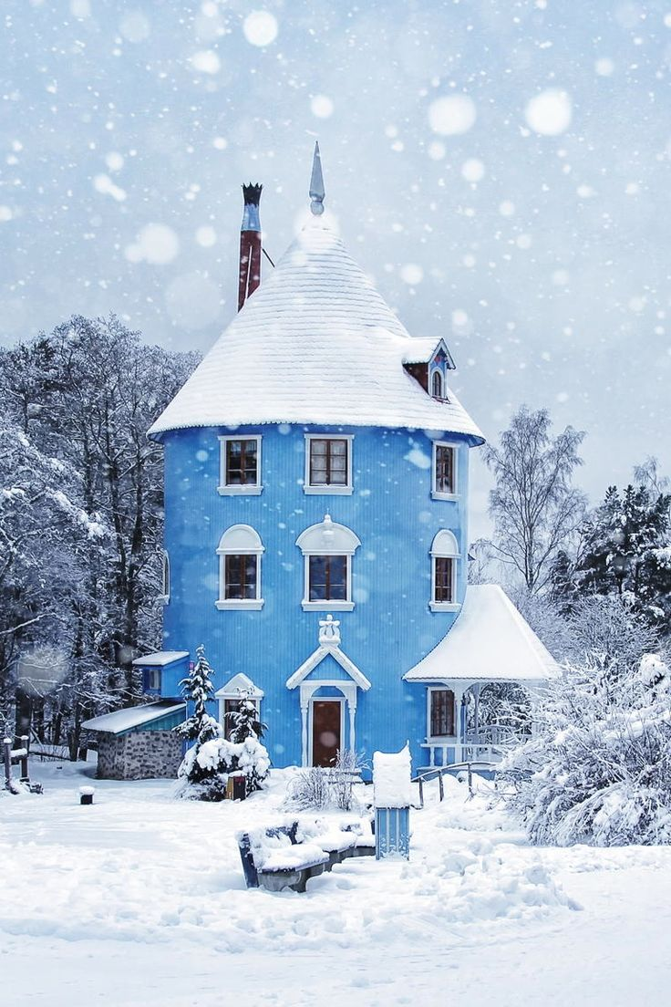 Moominhouse in Moominland theme park, Finland