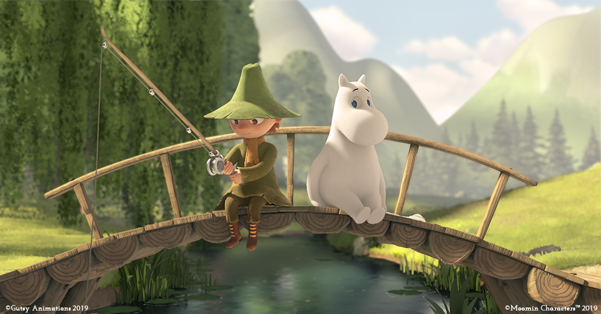 Snufkin and Moomin in the new series
