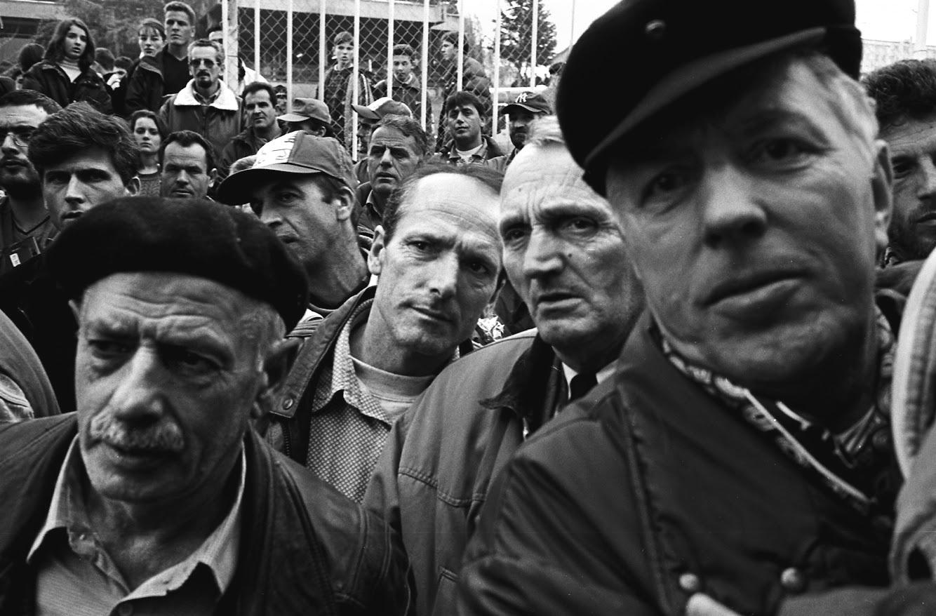Memorial service, Pristina, Kosovo, 1999