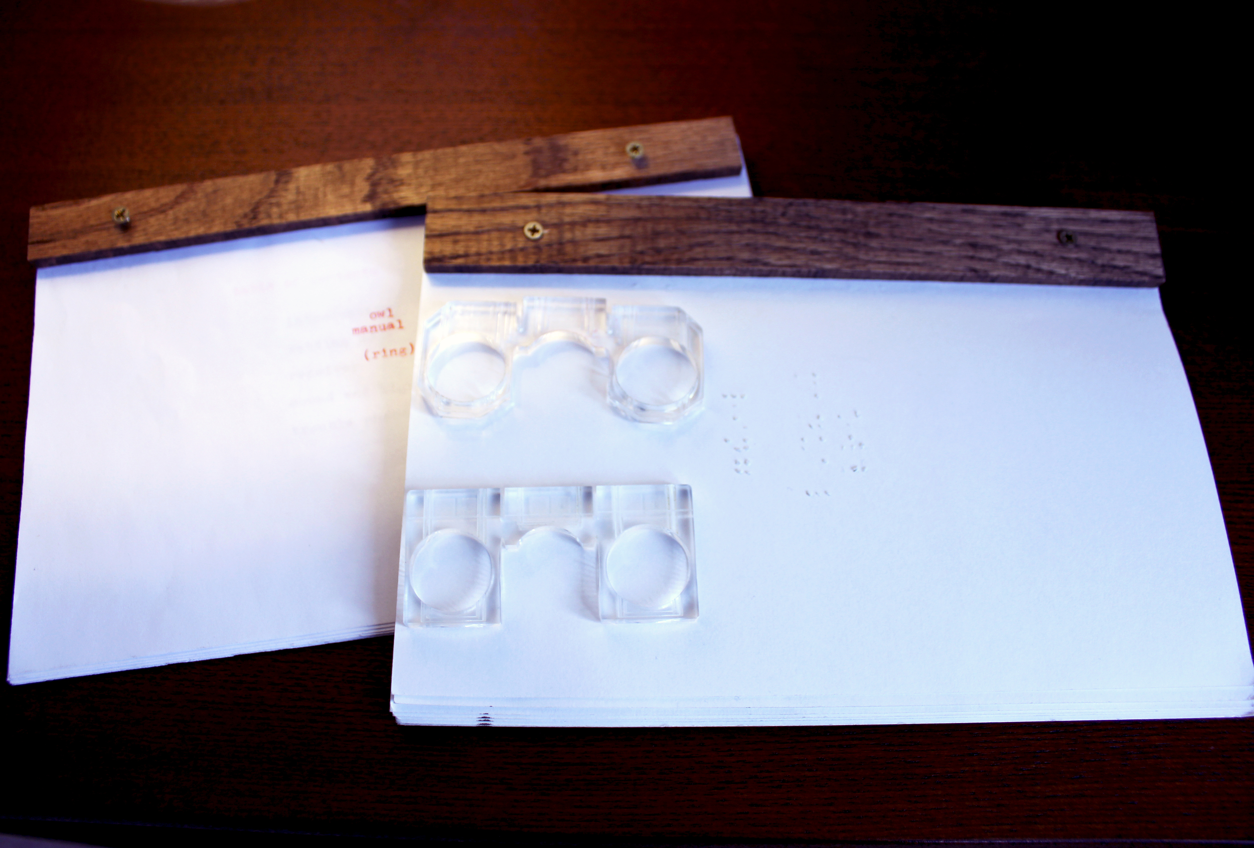 Braille & English Manuals and Ring Prototypes