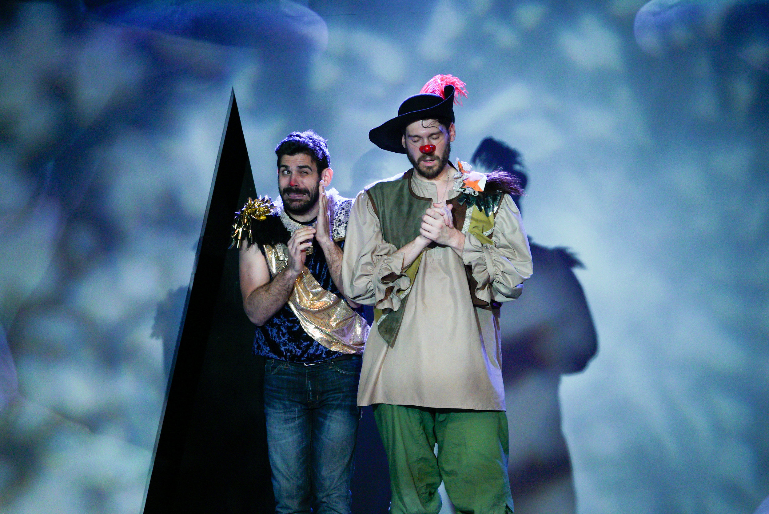 Christian (Dave Honigman) and Cyrano (Benjamin Ponce)