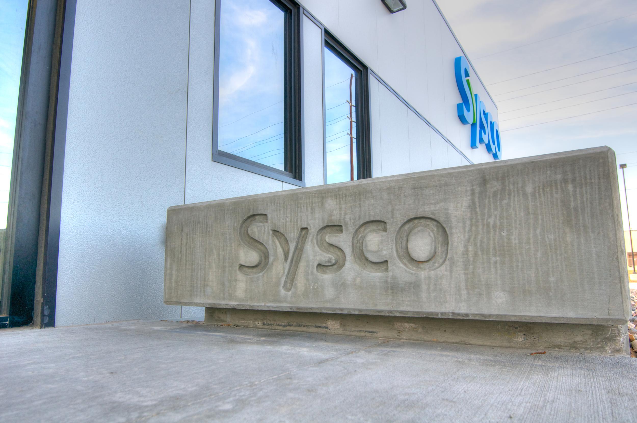 Sysco Concrete Sign
