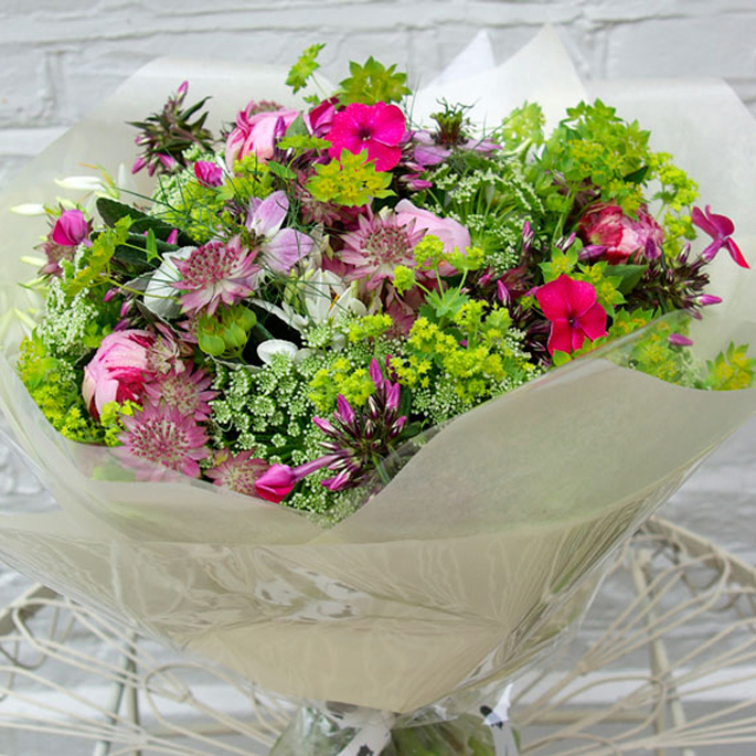 beautifully wrapped luxury bouquet
