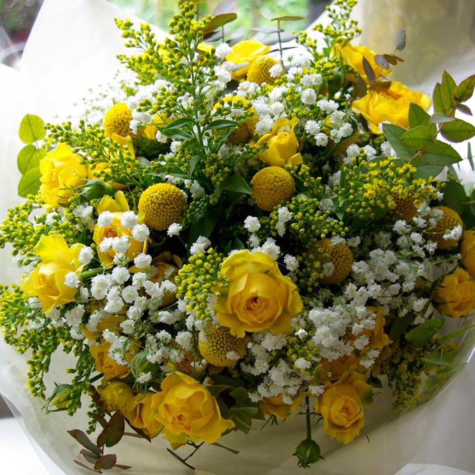 golden wedding anniversary luxury bouquet