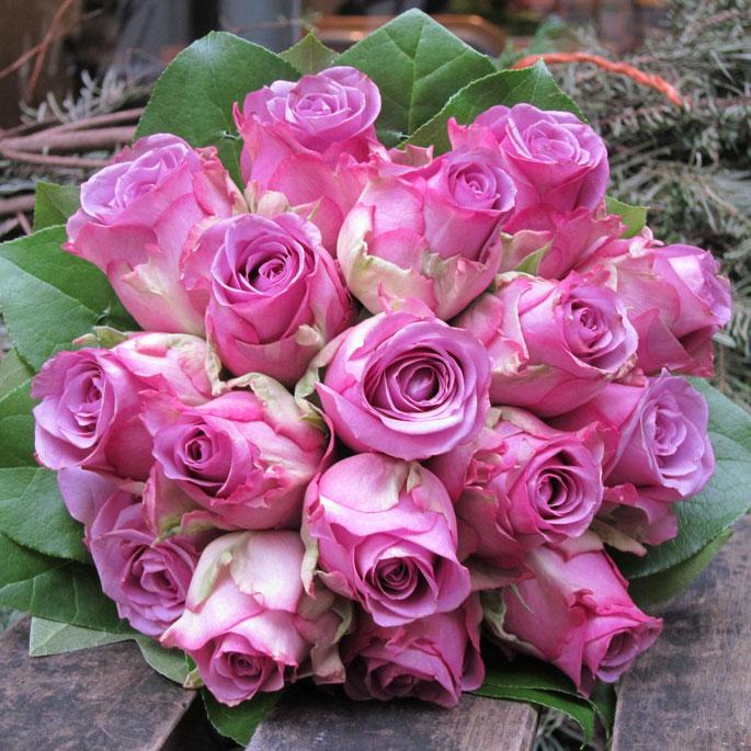 bridal massed rose bouquet