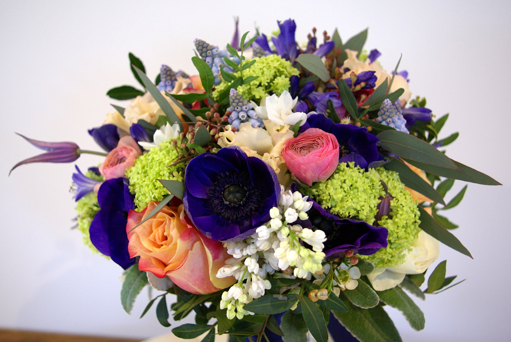 bridal bouquet - seasonal spring flowers