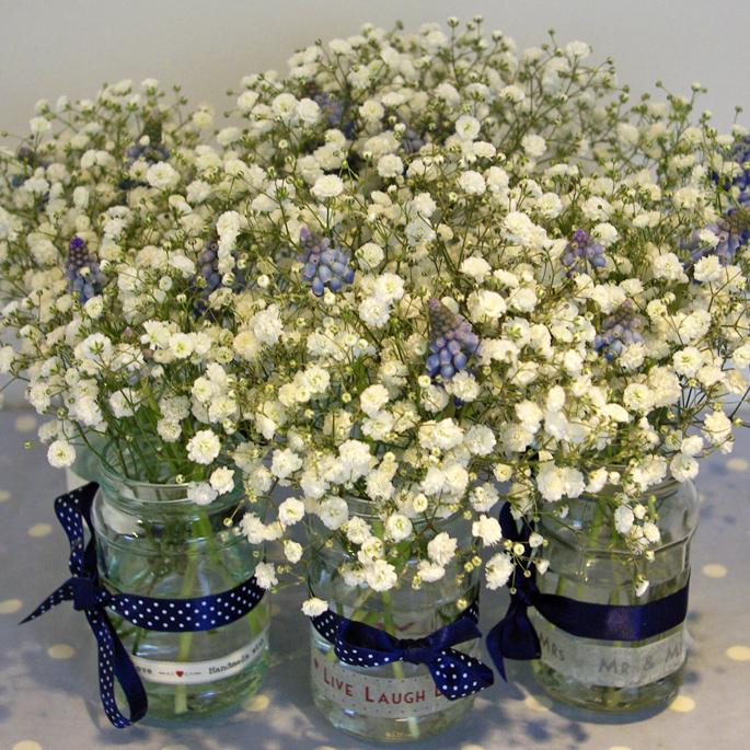 reception jam jars