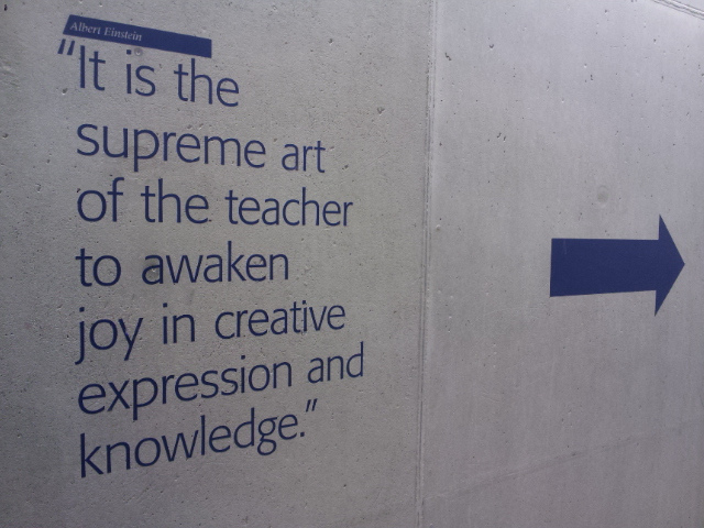 ABOVE: Albert Einstein knew a thing or two about creativity, knowledge and the key ingredient: joy.