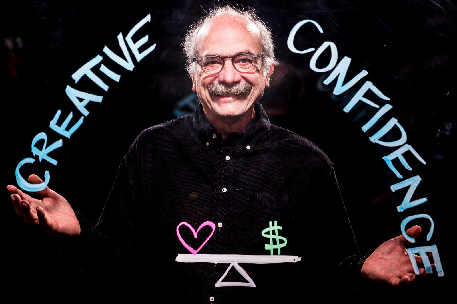 """One of my heroes, David Kelley, along with his brother Tom Kelley, is the founder and chairman of the global design and innovation company, IDEO. He also founded Stanford University's Hasso Plattner Institute of Design, known as the d.school. They co- authored the   New York Times   best-selling book, """"Creative Confidence"""" (Unleashing the Creative Potential Within Us All)."""