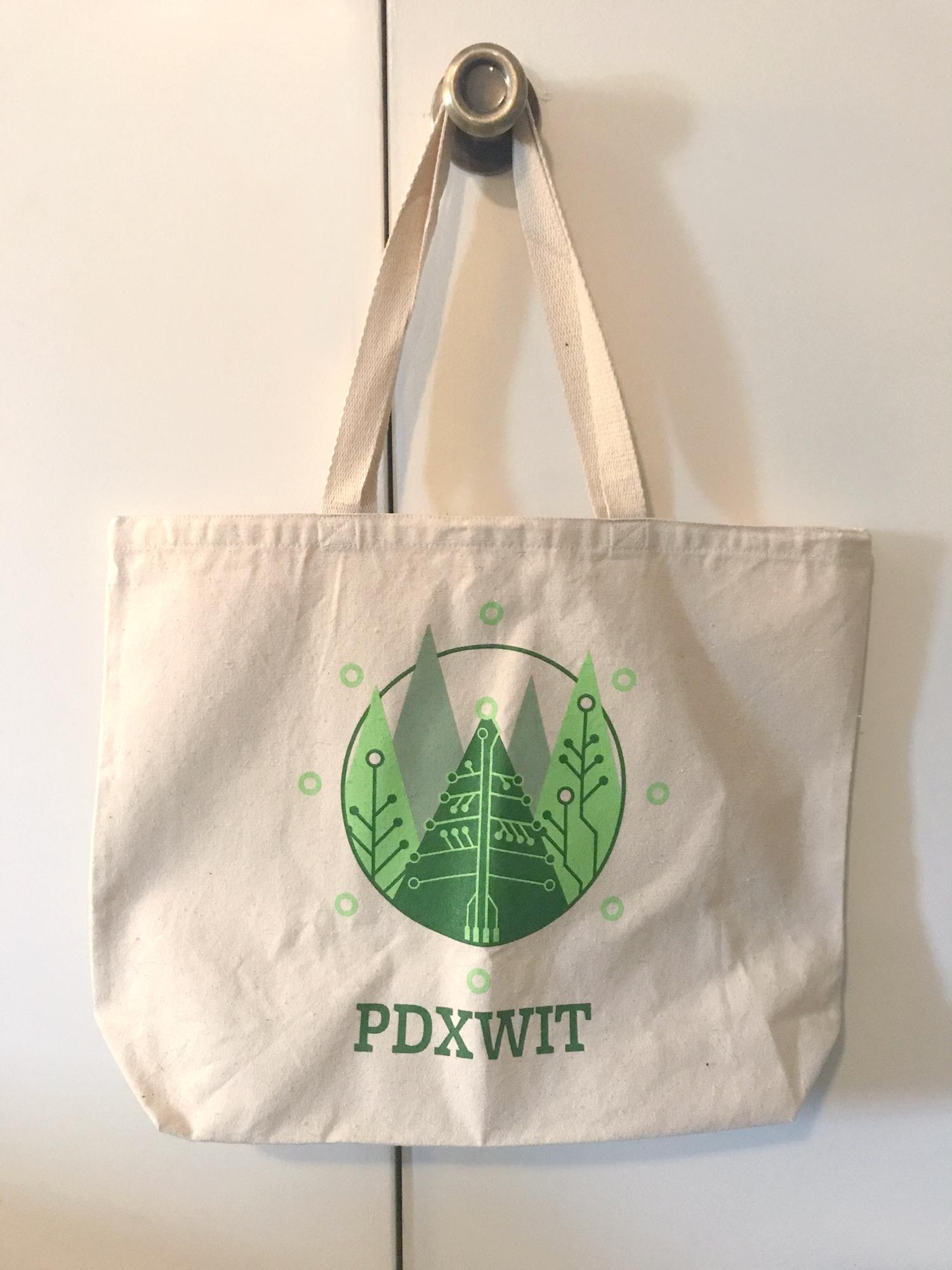 PDXWIT Holiday Tote Bag | 2018