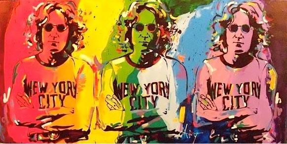 john lennon acrylic on canvas:  art by   kat