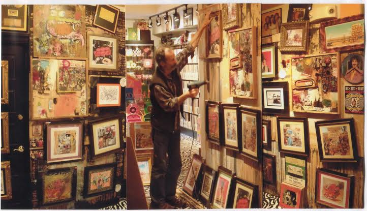 cal schenkel installs his own Frank zappa gallery @ gold million records