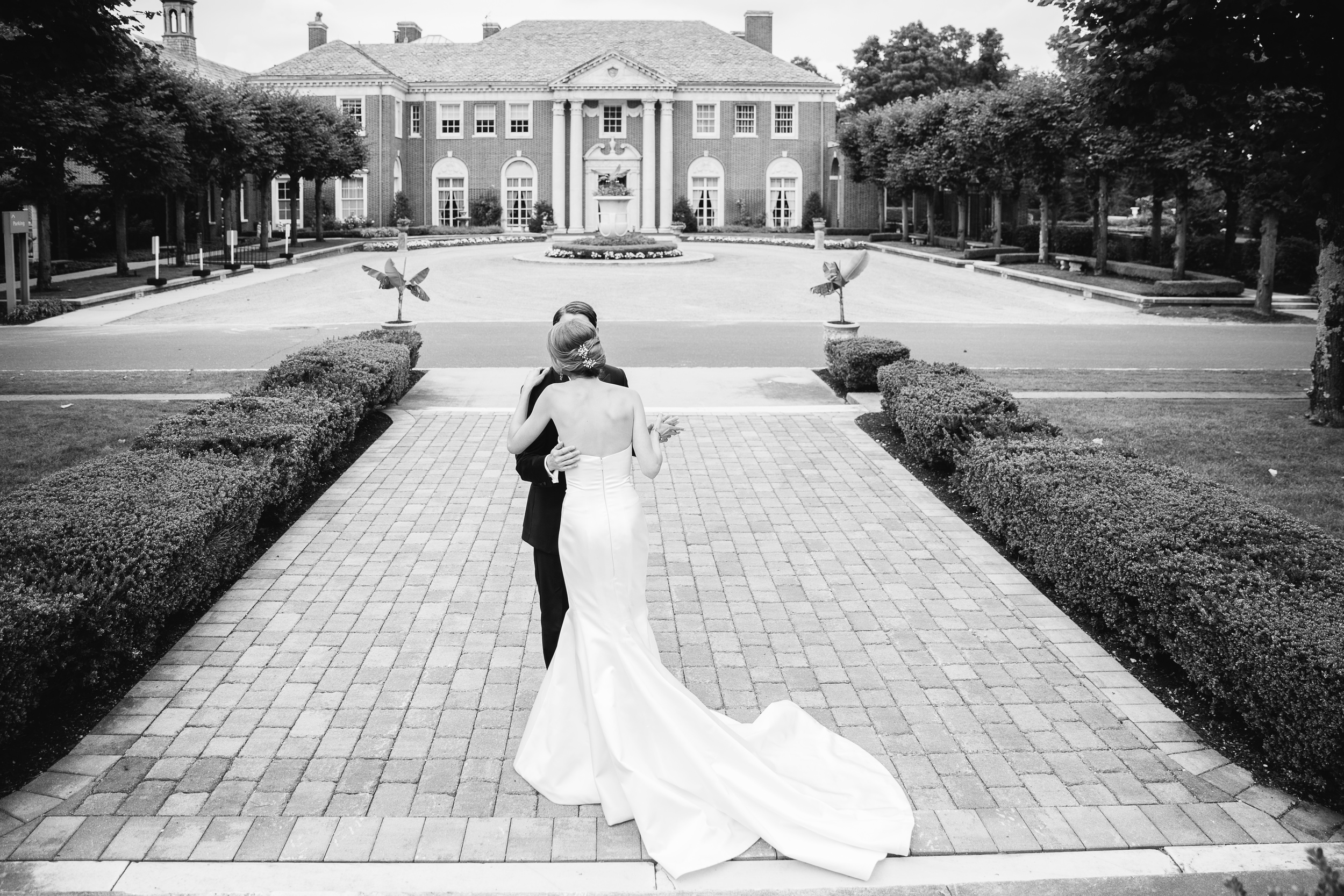 A broad view of DeSeversky Mansion Wedding