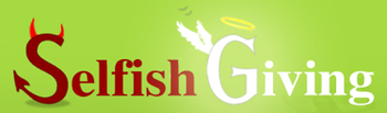 An early version of the Selfish Giving logo