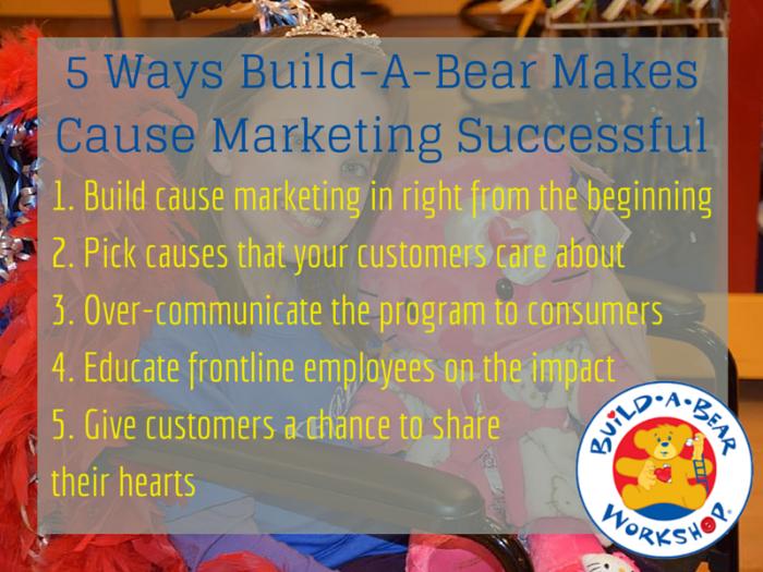 build a bear cause marketing