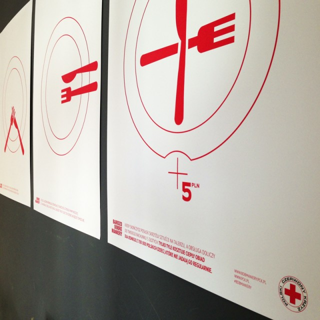 POLAND: Crossing your cutlery signals the staff to take your plate away and add a donation for The Polish Red Cross.