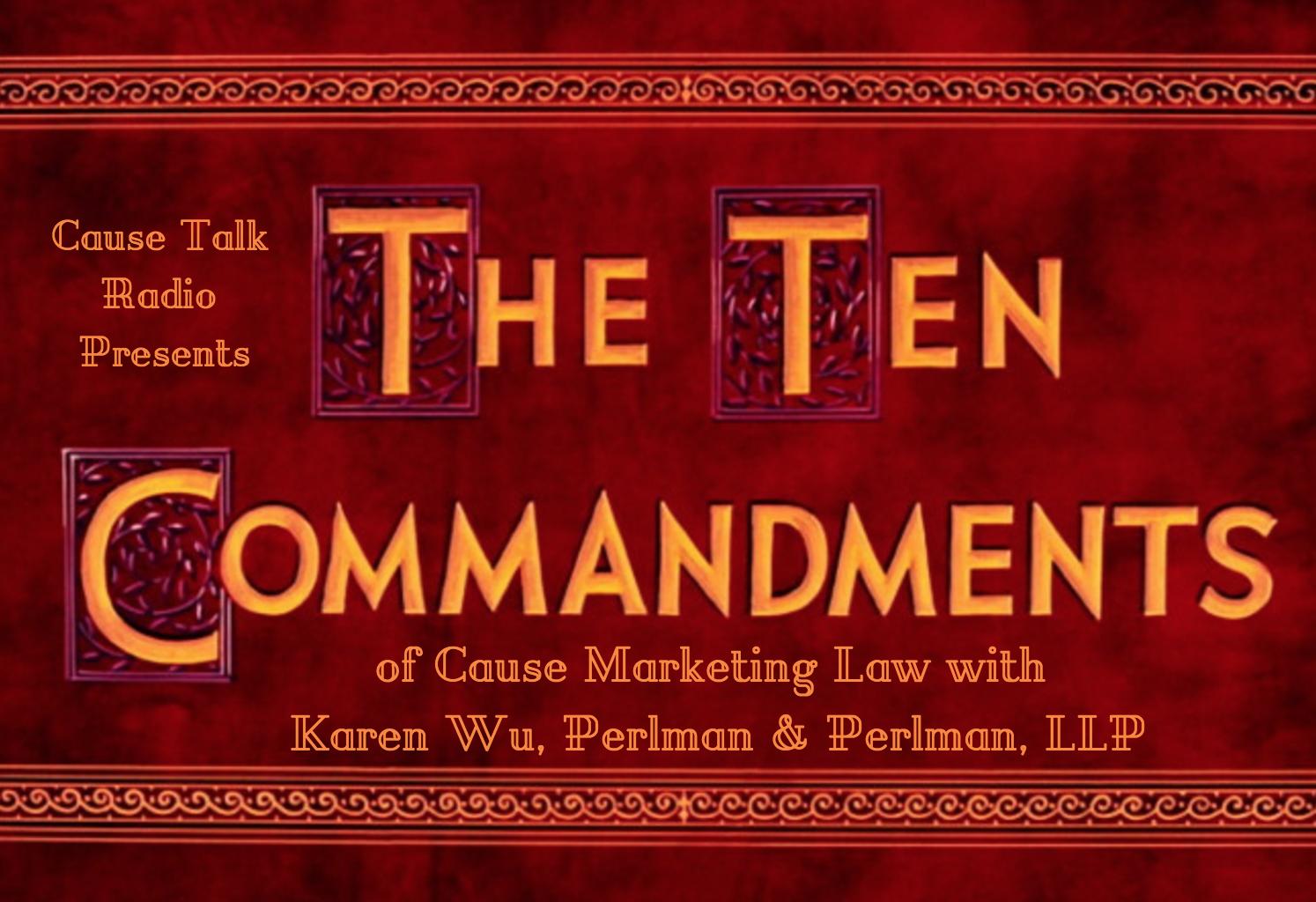 Ten Commandments of Cause Marketing Law