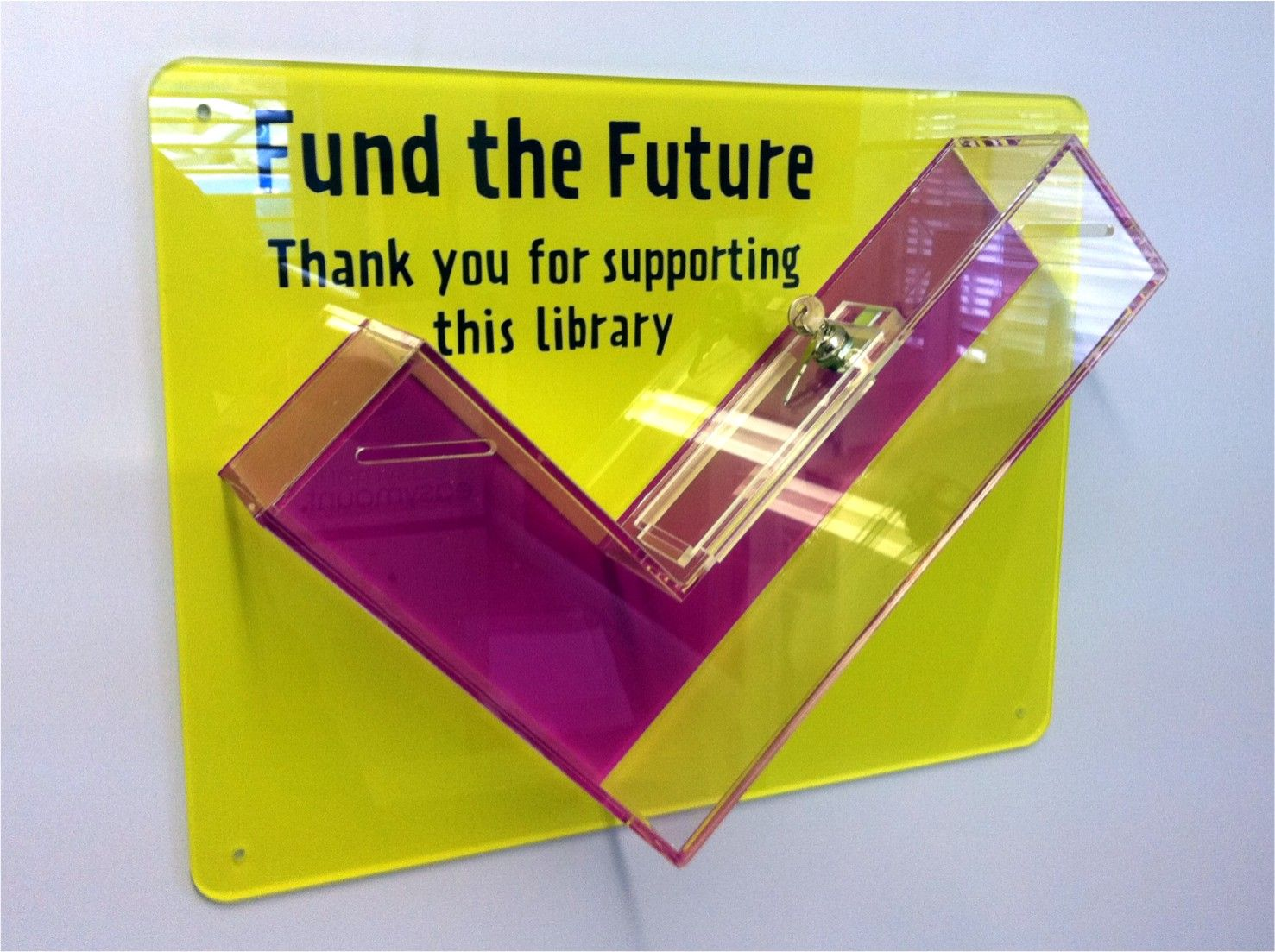 A creative example of a donation box, but will it raise any money?