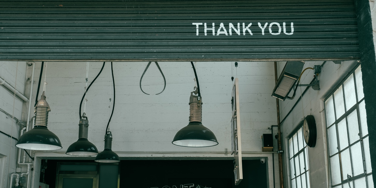 Thanking your customers for their business is important for growth!