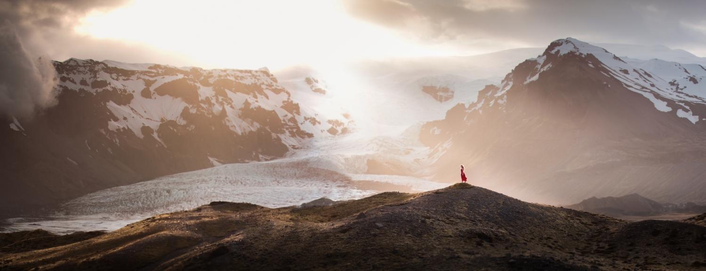 """""""Take It In"""", a self-portrait in Iceland."""
