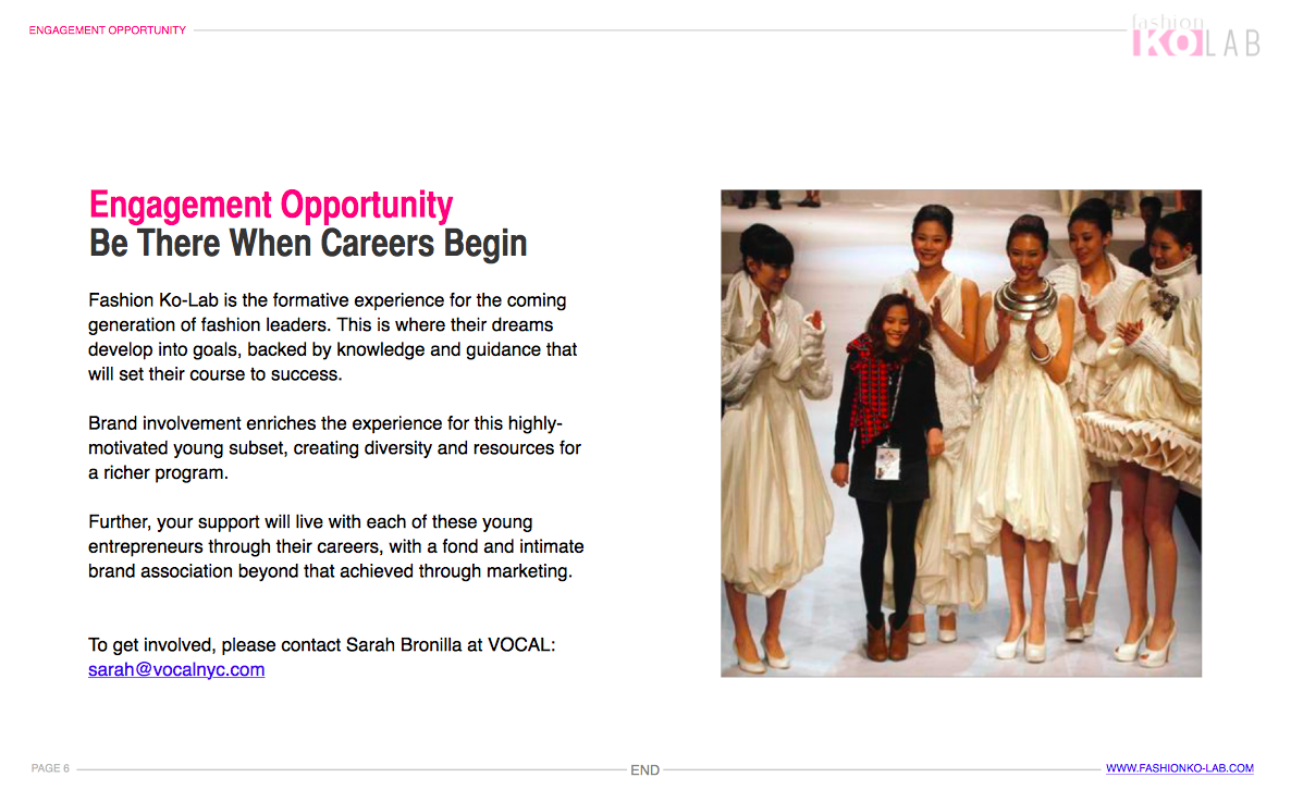 Fashion Career Kickstarter