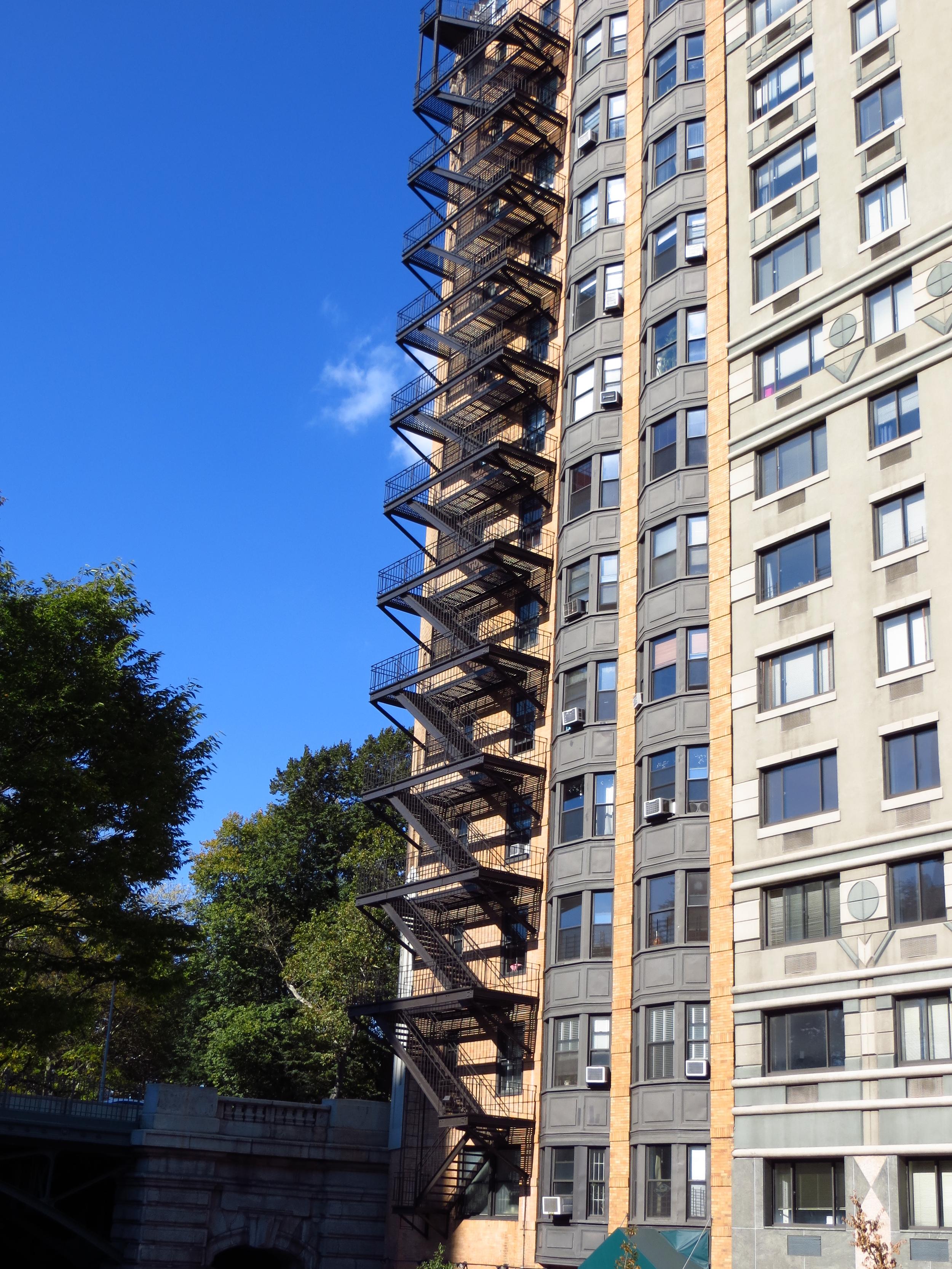 Tall fire escape
