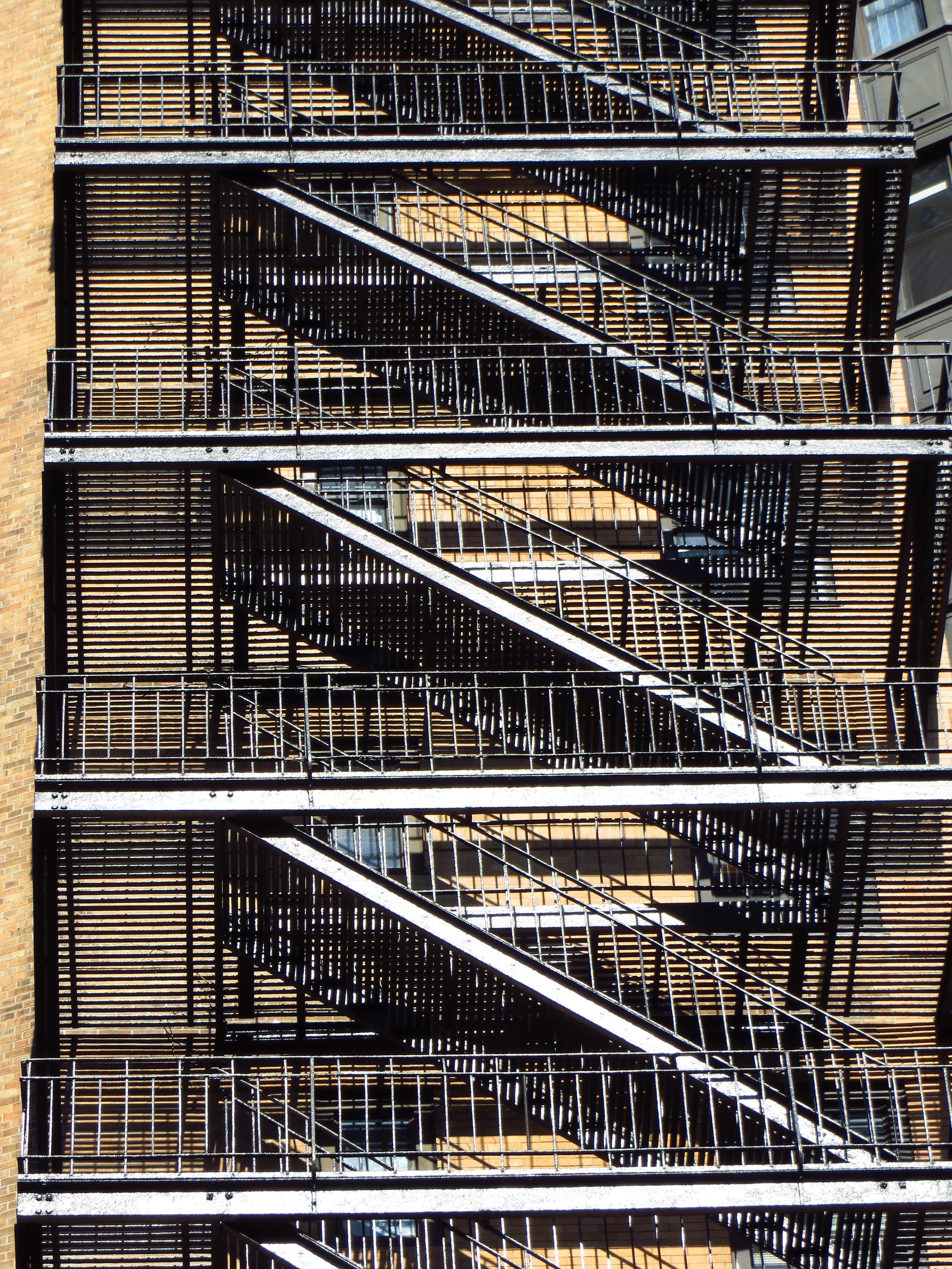 Close-up of fire escape