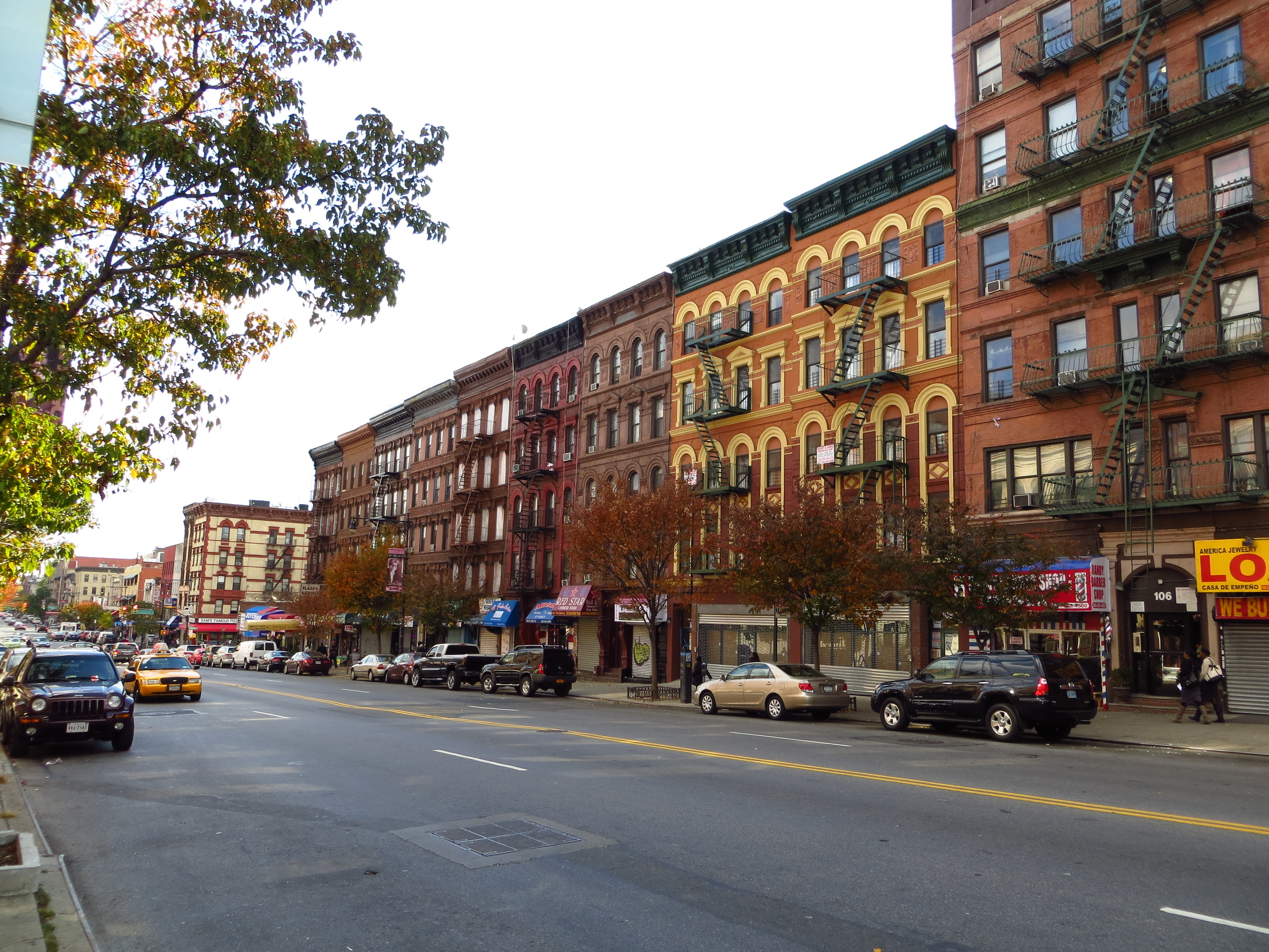 East Harlem apartment buildings