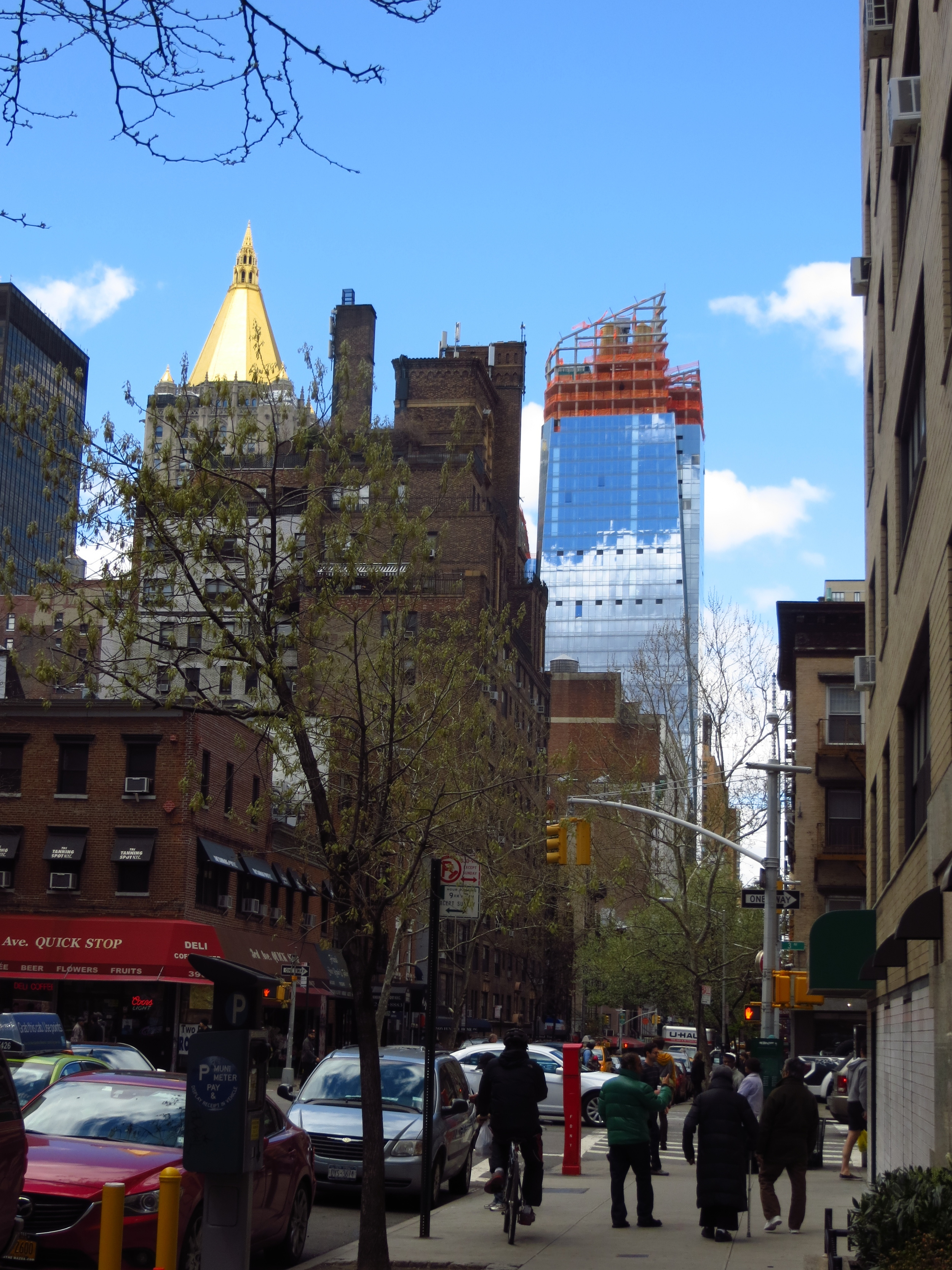 Street view w/New York Life Building (the gold top one)