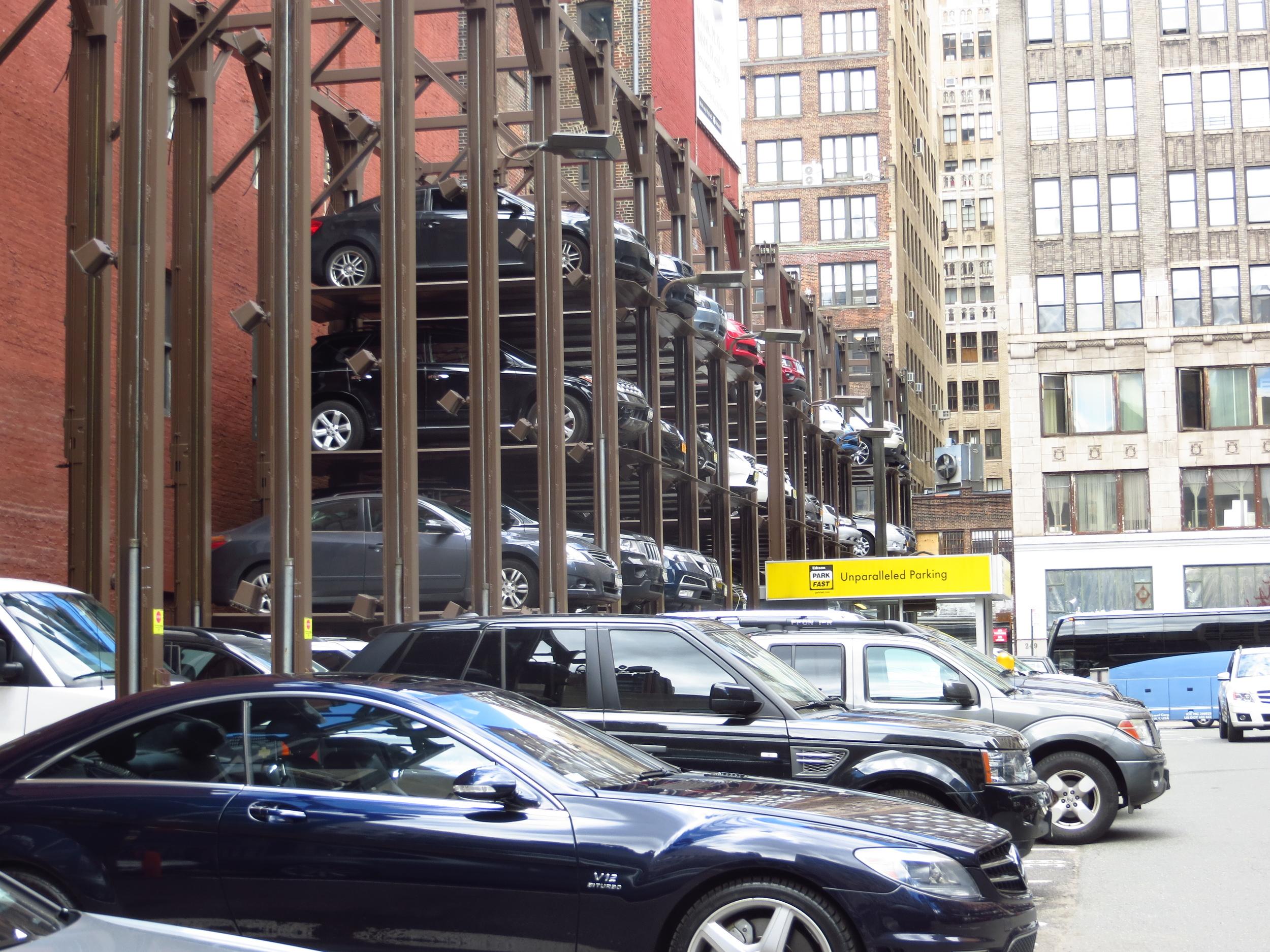 Vertical parking lot