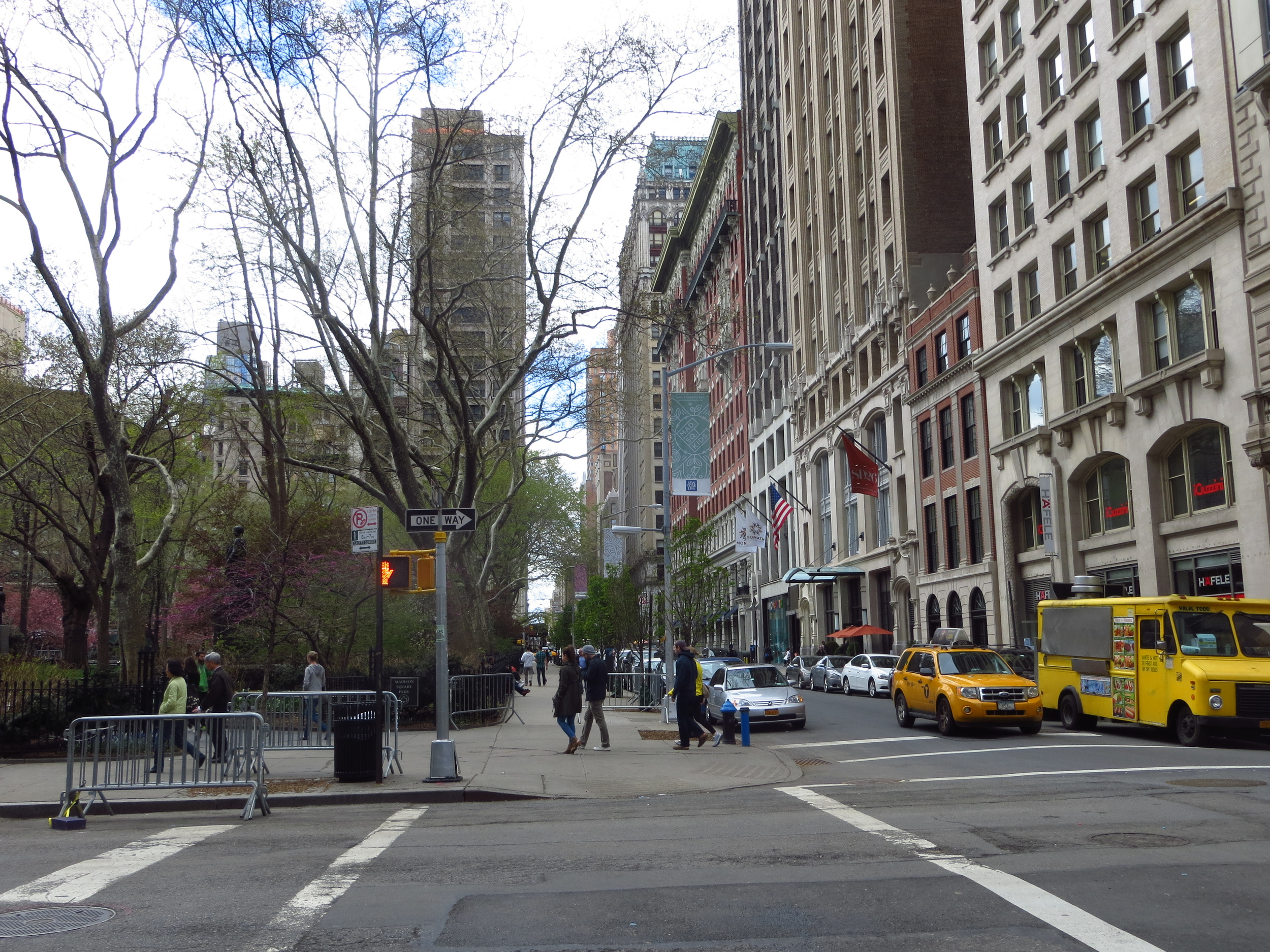 North end of Madison Square Park