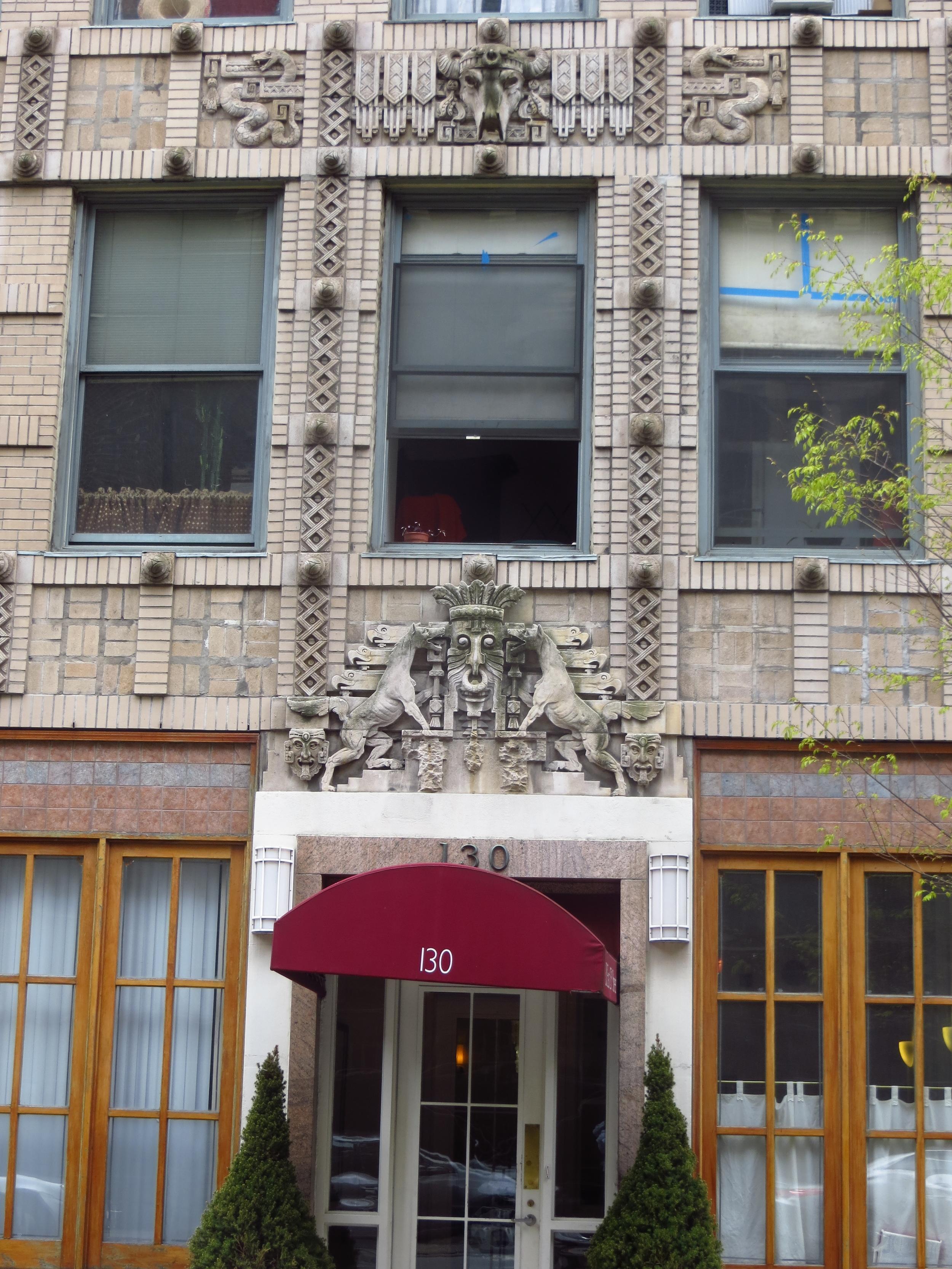 Aztec(?) themed facade