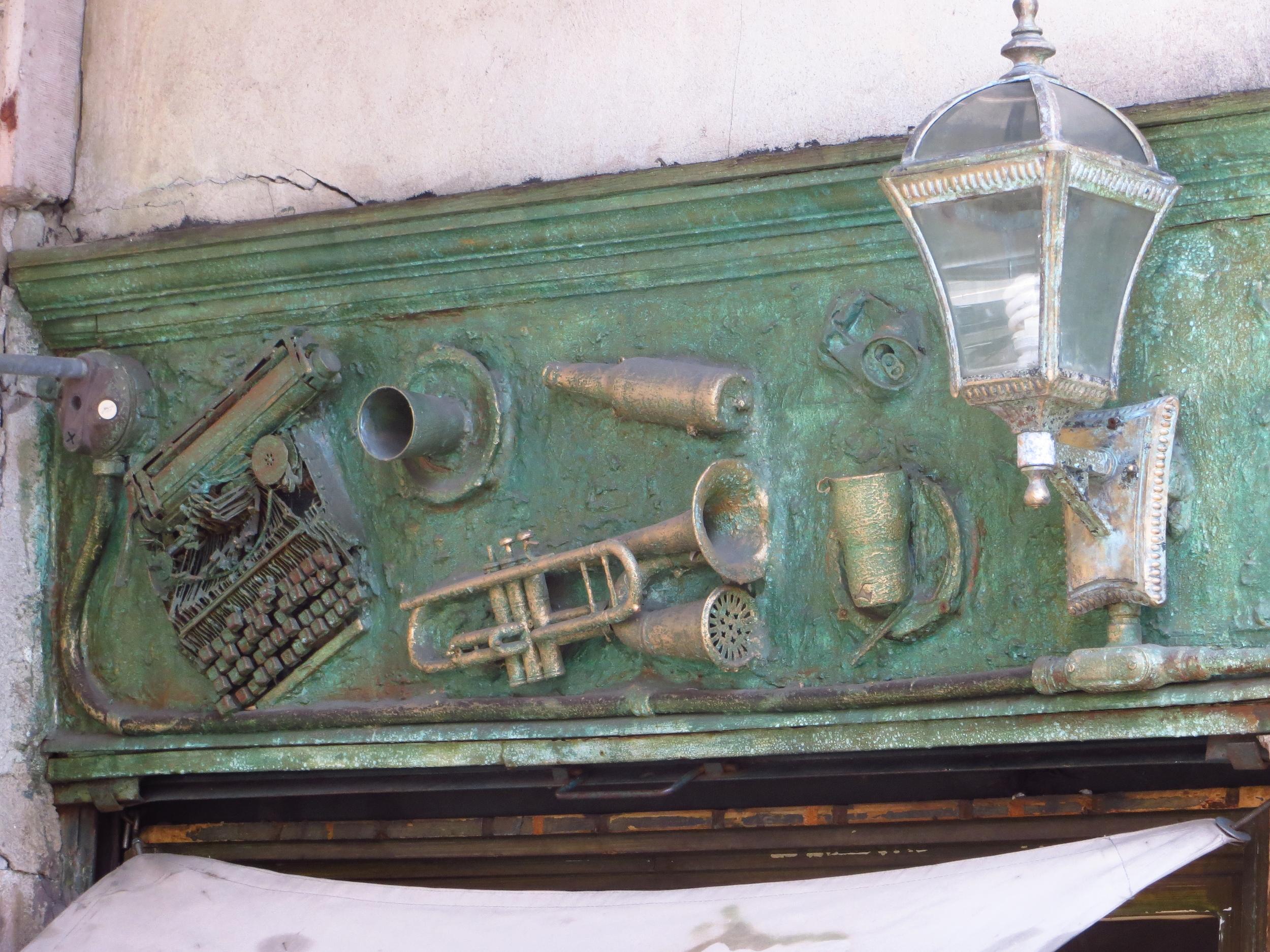 Typewriter and trumpet