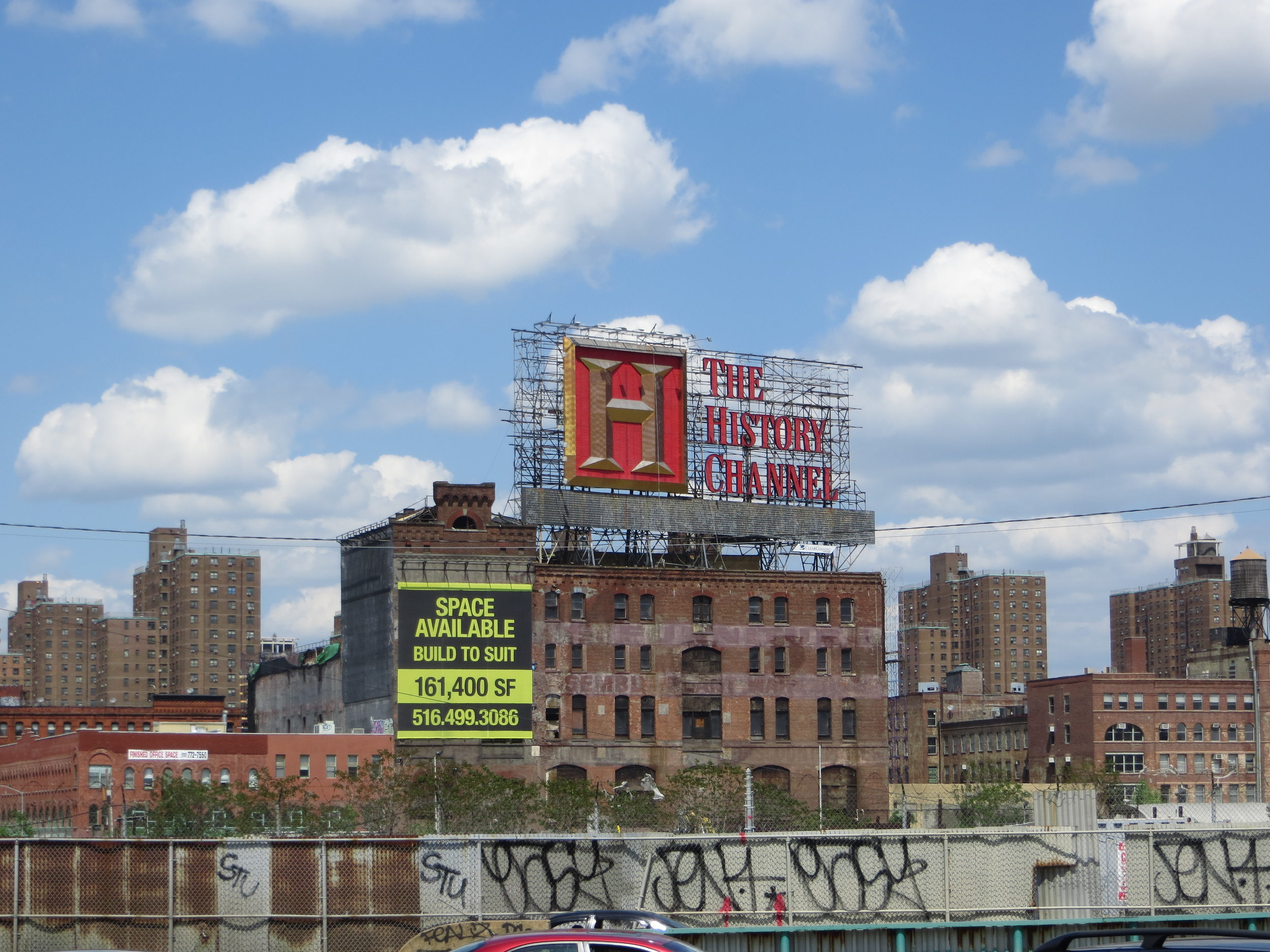 View into the South Bronx (it's History Channel turf)