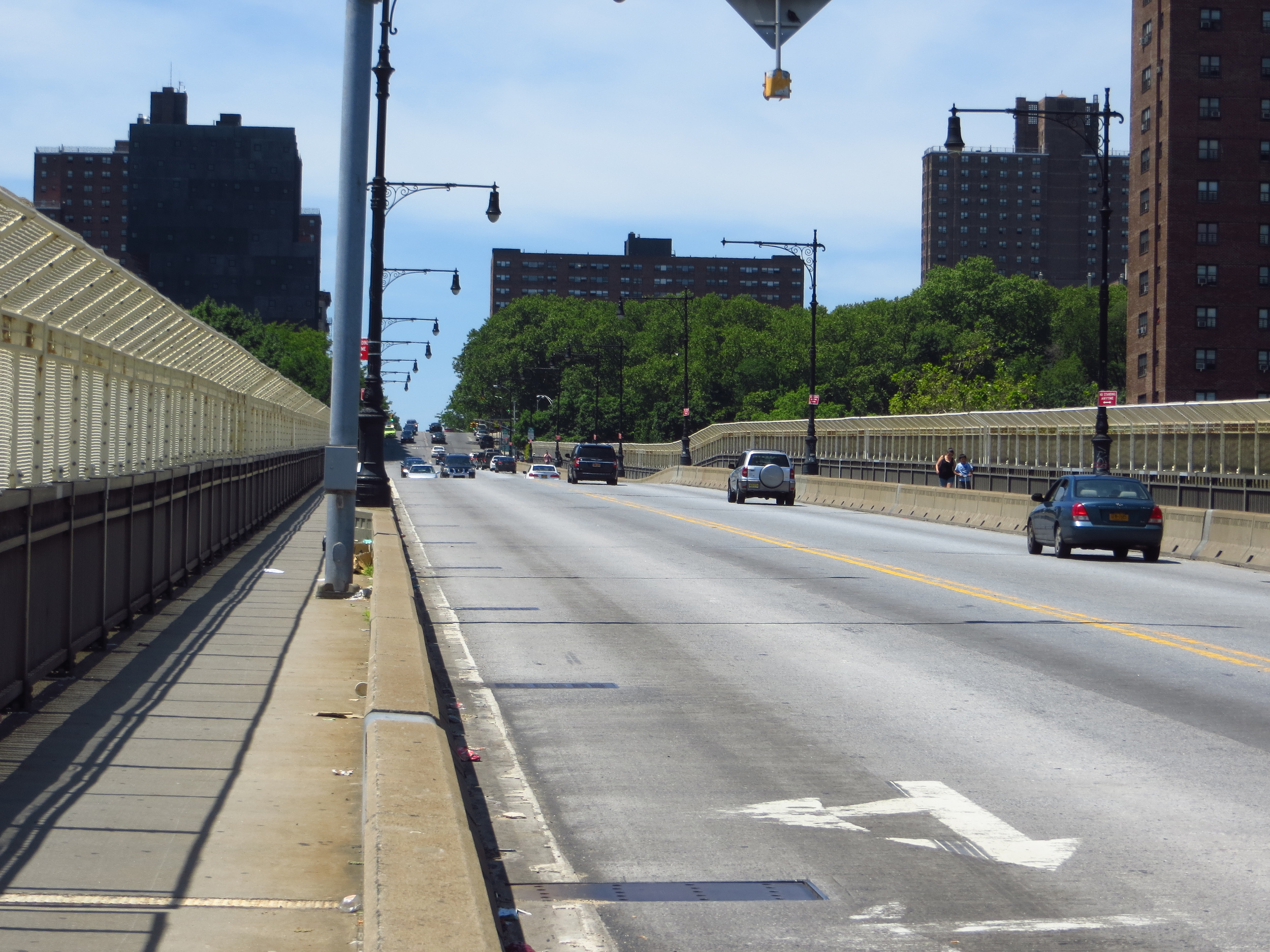 Elevated street into Hamilton Heights