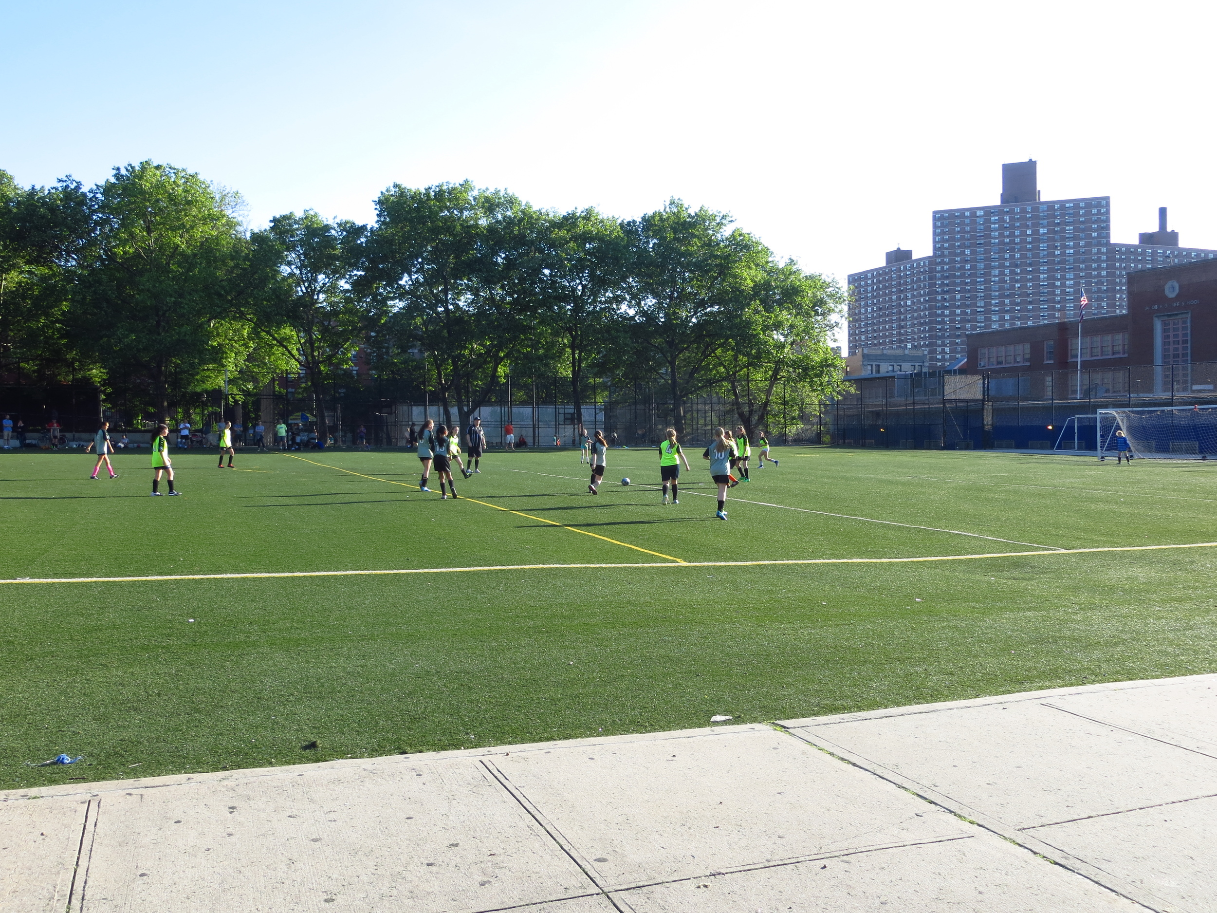 Afternoon soccer game