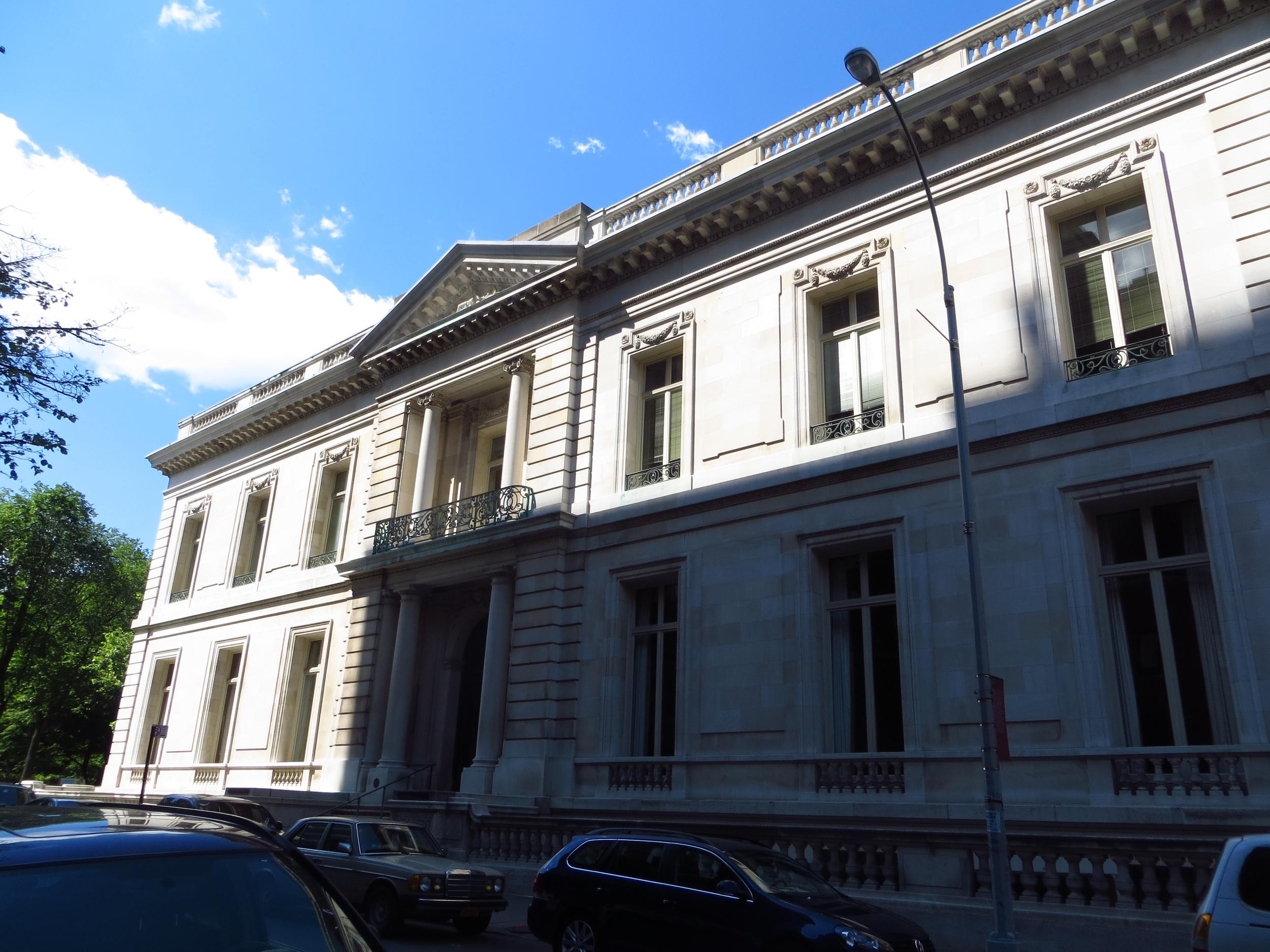 NYU Institute of Fine Arts in the James B. Duke House, as in Duke University (b. 1912)